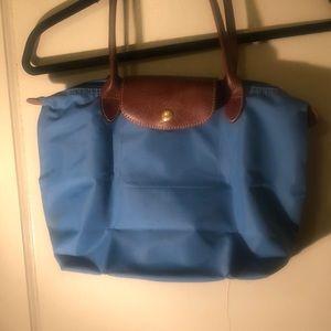 Longchamp Light Blue Le Pliage - medium